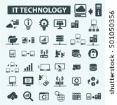 it technology icons | Shutterstock .eps vector #501050356