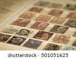 stamp collection | Shutterstock . vector #501051625