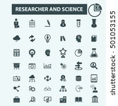 researcher and science icons  | Shutterstock .eps vector #501053155