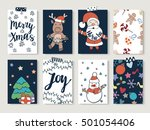 christmas and happy new year... | Shutterstock .eps vector #501054406