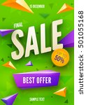 final sale poster or flyer... | Shutterstock .eps vector #501055168