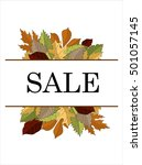 autumn sale vector concept.... | Shutterstock .eps vector #501057145