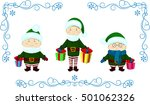 illustration of elf with... | Shutterstock . vector #501062326