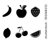fruits icons set. | Shutterstock .eps vector #501068152