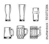 set of vector icons beer glasses | Shutterstock .eps vector #501072286