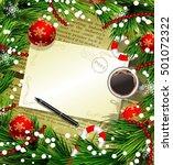 christmas new year design old... | Shutterstock .eps vector #501072322
