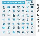 online marketing icons   Shutterstock .eps vector #501082432