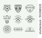set of vintage soccer or... | Shutterstock .eps vector #501088132