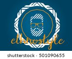 ethno style silhouette of a man ...   Shutterstock .eps vector #501090655
