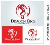 dragon king logo design... | Shutterstock .eps vector #501094636