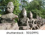 areal of angkor thom in cambodia   Shutterstock . vector #5010991