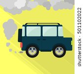 off road car steaming the... | Shutterstock .eps vector #501102022