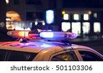 blue light flasher atop of a... | Shutterstock . vector #501103306