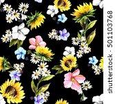 watercolor flower surface... | Shutterstock . vector #501103768