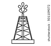 drilling of oil well icon.... | Shutterstock .eps vector #501109072