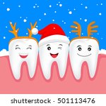 christmas teeth character... | Shutterstock .eps vector #501113476