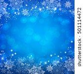 blue christmas snowflakes bokeh ... | Shutterstock .eps vector #501114472