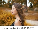 beautiful young asian woman... | Shutterstock . vector #501115078