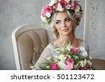 fashion studio portrait of... | Shutterstock . vector #501123472