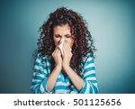 closeup portrait of woman... | Shutterstock . vector #501125656