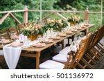 rustic banquet | Shutterstock . vector #501136972