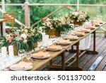 rustic banquet | Shutterstock . vector #501137002