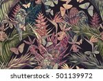 beautiful vintage seamless... | Shutterstock . vector #501139972