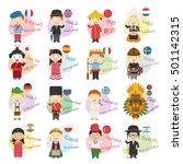 vector illustration of cartoon... | Shutterstock .eps vector #501142315