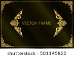 gold photo frame with corner... | Shutterstock .eps vector #501145822