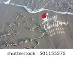 merry christmas from a tropical ... | Shutterstock . vector #501155272
