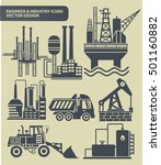 engineer and industry icon set... | Shutterstock .eps vector #501160882