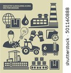 industry and building icon set... | Shutterstock .eps vector #501160888