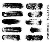 black ink vector brush strokes  ... | Shutterstock .eps vector #501165148