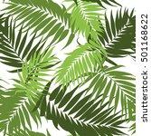 jungle tree leaves seamless... | Shutterstock .eps vector #501168622