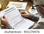 credit score financial banking...   Shutterstock . vector #501170476