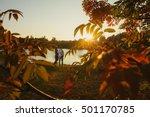portrait of couple walking... | Shutterstock . vector #501170785