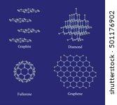 allotropes of carbon  graphite  ... | Shutterstock .eps vector #501176902