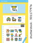 icon set traffic vector | Shutterstock .eps vector #501177976