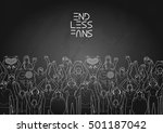 crowd of cheering fans. cyber... | Shutterstock .eps vector #501187042