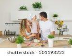 adorable caucasian family... | Shutterstock . vector #501193222