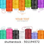 thread spool banner row border... | Shutterstock .eps vector #501194572