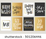 christmas. new year calligraphy ... | Shutterstock .eps vector #501206446