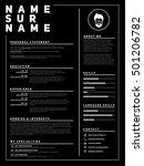 resume minimalist cv  template...   Shutterstock .eps vector #501206782