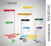 infographic timeline report... | Shutterstock .eps vector #501207142