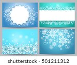 winter backgrounds and banners... | Shutterstock .eps vector #501211312