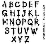graffiti splash vector alphabet ...   Shutterstock .eps vector #501216325