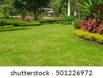 landscaped formal  front yard... | Shutterstock . vector #501226972
