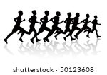 people running silhouettes   Shutterstock .eps vector #50123608
