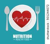 heart pulse nutrition healthy | Shutterstock .eps vector #501244072