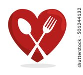 symbol healthy food heart spoon ...